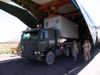 Norsk materiell ankommer Afghanistan - ISAF