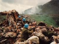 Norske soldater under øvelse ved Hasbanih i Sør-Libanon 1988