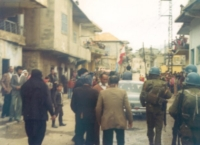 De aller frste norske FN-soldatene fra NORBATT inntar Chebaa i 1978